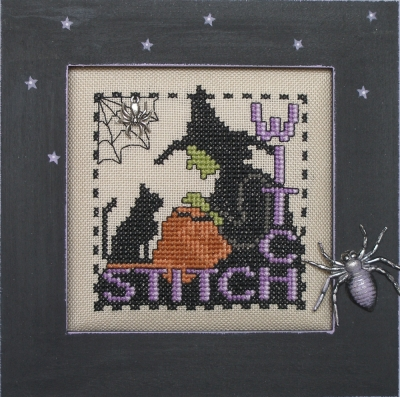 Hinzeit - Stitch Witch-Hinzeit - Stitch Witch, Halloween, witch, spider, black cat, stitching, cross stitch