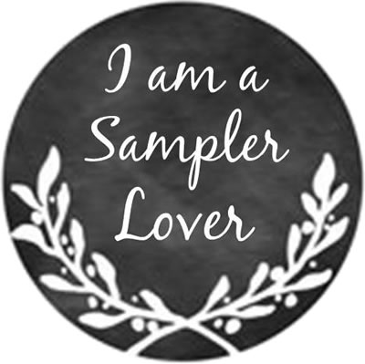 Whimsical Edge Designs - I am a Sampler Lover Needle Minder-Whimsical Edge Designs - I am a Sampler Lover Needle Minder, magnet, needles, cross stitch