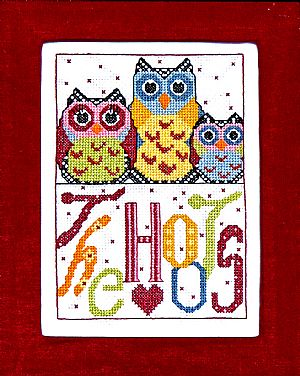 Bobbie G. Designs - The Hoots - Cross Stitch Pattern-Bobbie G. Designs, The Hoots, owls, birds, family, Cross Stitch Pattern