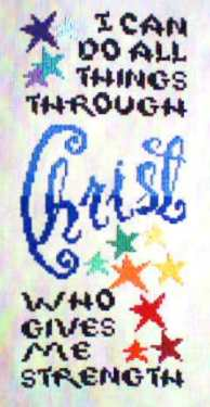 Jeanette Ardern Designs - I Can Do All Things -  Cross Stitch Pattern-Jeanette Ardern Designs I Can Do All Things Cross Stitch Pattern