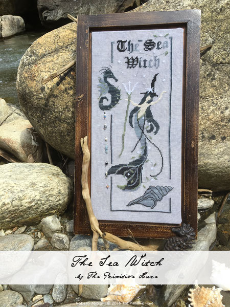 The Primitive Hare - The Sea Witch-The Primitive Hare - The Sea Witch, mermaid, ocean, cross stitch