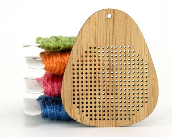 Red Gate Stitchery - Bamboo Pendant Blank - Teardrop - DIY Cross Stitch Necklace-Red Gate Stitchery, Bamboo Pendant Blank, Teardrop, DIY Cross Stitch Necklace