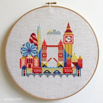 Satsuma Street - Pretty Little London-Satsuma Street - Pretty Little London, England, United Kingdom, cross stitch,