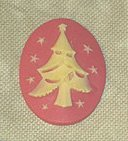 Ship's Manor - Christmas Tree Needle Minder-Ships Manor - Christmas Tree Needle Minder, Christmas trees, cross stitch, accessory, needles,