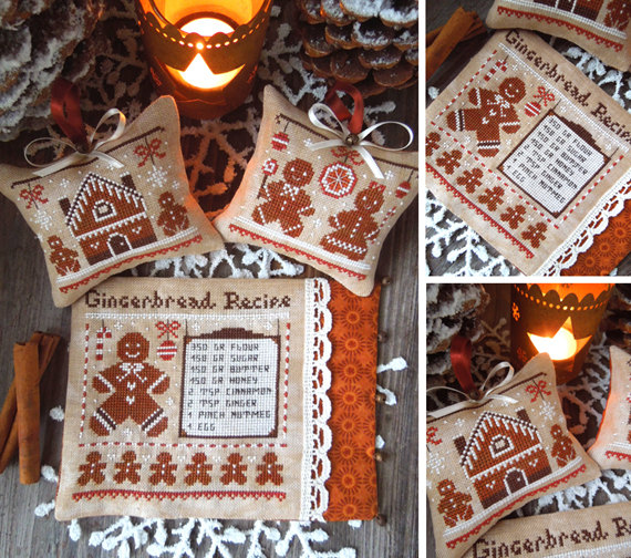 The Little Stitcher - Russet Christmas-The Little Stitcher - Russet Christmas, Gingerbread Man, Christmas ornaments, cookies, decorating, cross stitch