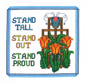 Imaginating - Stand Proud-Imaginating,Stand, Proud,Cross, Stitch, Chart, military, patriotic, strong, flowers,
