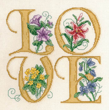 Imaginating - Love-Imaginating, Love,Cross,Stitch,Pattern,Heart,romance, flowers, aida, floss