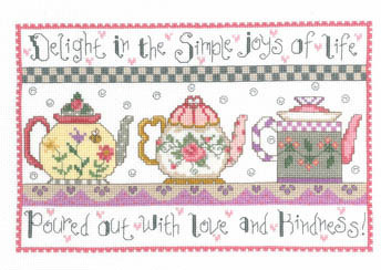 Imaginating - Teapots of Love-Imaginating Teapots of Love Cross Stitch Pattern