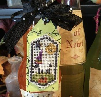 Shepherd's Bush - Halloween Sheep Tag Kit-Shepherds Bush - Halloween Sheep Tag Kit, ornament, decorating, fall, sheep, cross stitch