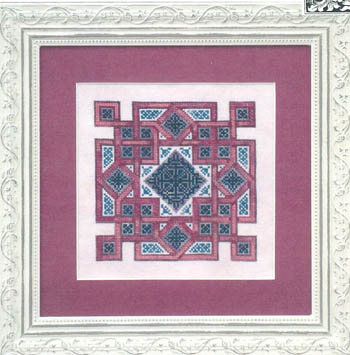 Ink Circles - Celtic Quilts Crown of Squares - Cross Stitch Pattern-Ink Circles - Celtic Quilts: Crown of Squares - Cross Stitch Pattern