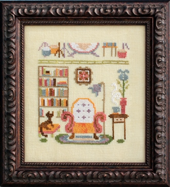 Ink Circles - Bad Neighborhoods - Part 4 of 6 - Upstairs, Downstairs - Cross Stitch Pattern-Ink Circles, Bad Neighborhoods, Part 4 of 6, Upstairs, Downstairs, house, pollution, Cross Stitch Pattern