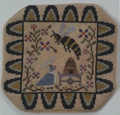 Island Cottage Needlearts - Telling the Bees - Cross Stitch Chart-Island Cottage Needlearts, Telling the Bees, candle mat, Cross Stitch Chart
