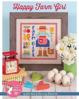 It's Sew Emma Stitchery - Happy Farm Girl-Its Sew Emma Stitchery - Happy Farm Girl, farm animals,