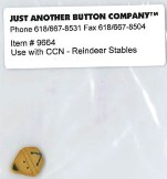 Just Another Button Company - Santa's Village Button-Reindeer Stables-Just Another Button Company, Country Cottage Needleworks, Santa's Village Button,Small Sleigh Bell Button, Reindeer Stables