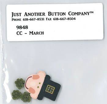 Just Another Button Company - March Button Pack for Cross-Eyed Cricket March Chart-Just Another Button Company, March Button Pack for Cross-Eyed Cricket March Chart