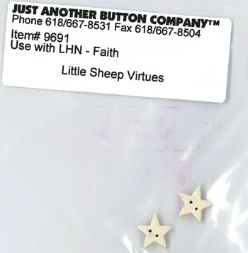 Just Another Button Company - Little Sheep Virtues-Faith Button Pack
