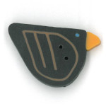 Just Another Button Company - Crow Button 1106-Just Another Button Company - Crow Button 1106, bird, black crow,