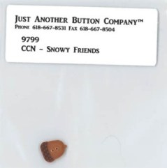 Just Another Button Company - CCN-Frosty Forest - Snowy Friends Button-Just Another Button Company,Beach Cottage Stitchers, CCN-Frosty Forest, Snowy Friends Button, part 4,