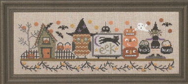 Bent Creek - Spooky Halloween Mantle - Part 3 of 3 - Tricks or Treats-Bent Creek - Spooky Halloween Mantle - Part 3 of 3 - Tricks or Treats - Cross Stitch Kit