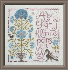 Jardin Prive - Sampler au Bouquet 1-Jardin Prive - Sampler au Bouquet I, flowers, samppler, french cross stitch,
