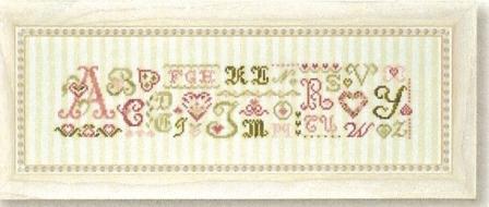 JBW Designs - Alphabet Hearts - Cross Stitch Pattern-JBW Designs - Alphabet Hearts - Cross Stitch Pattern