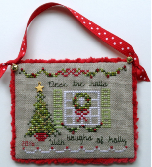 JBW Designs - 2016 Deck The Halls - Limited Edition Ornament Kit-JBW Designs - 2016 Deck The Halls - Limited Edition Ornament Kit, Christmas, decorating, celebrations, cross stitch