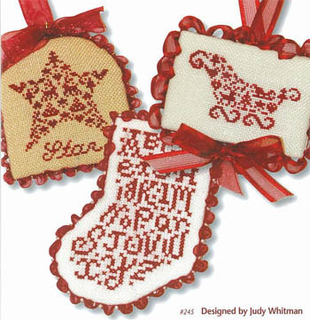 JBW Designs - French Country Ornaments-JBW Designs - French Country Ornaments  - Cross Stitch Patterns