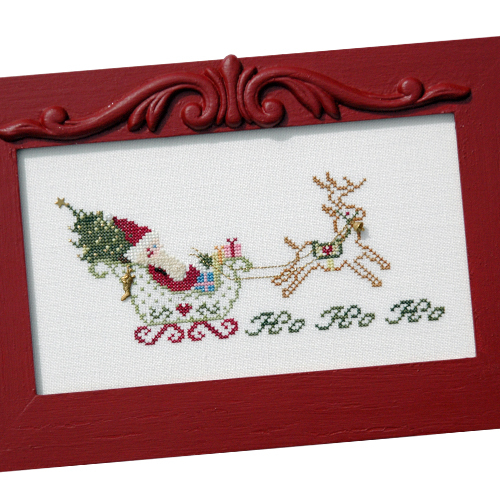 JBW Designs - Santa's Sleigh Ride-JBW Designs - Santas Sleigh Ride, Santa Claus, Christmas Eve, Cross Stitch