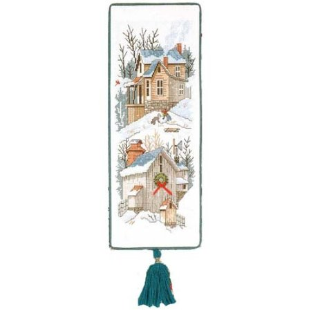 Needle Treasures - Building Frosty Bellpull - Cross Stitch Kit-Needle Treasures, Building Frosty Bellpull, JCA, Cross Stitch Kit