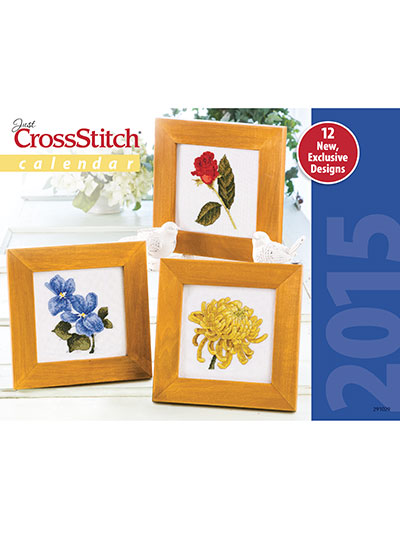 Just Cross Stitch - 2015 Calendar-Just Cross Stitch - 2015 Calendar, flowers,