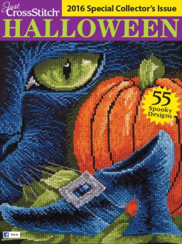 Just Cross Stitch - 2016 Halloween Special Collector's Issue-Just Cross Stitch - 2016 Halloween Special Collectors Issue, halloween, cross stitch, chalk designs, haunted house,