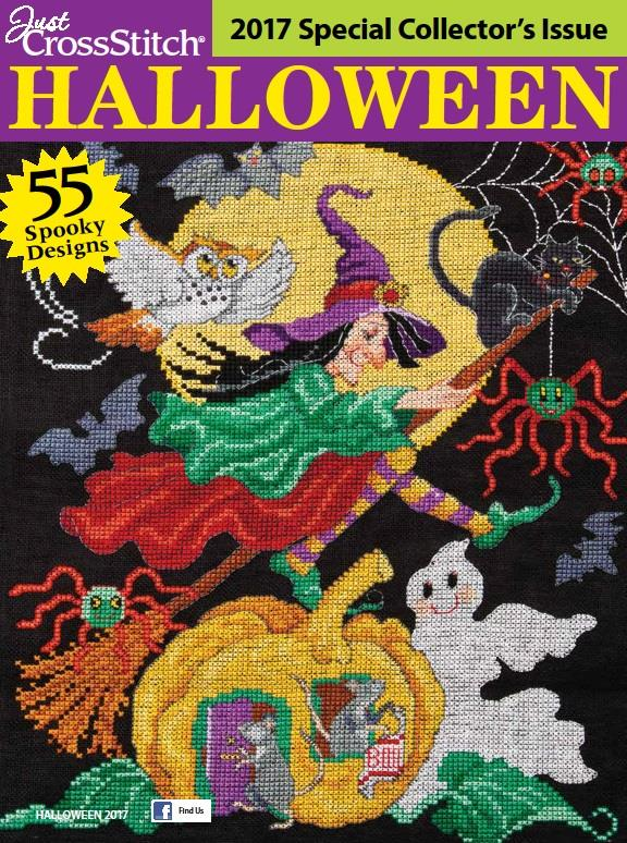 Just Cross Stitch - 2017 Halloween Special Collector's Issue-Just Cross Stitch, 2017 Halloween Special Collectors Issue, fall, Halloween, ornaments, cross stitch