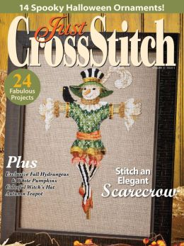 Just Cross Stitch - 2013 #5 Issue September/October - Cross Stitch Magazine-Just Cross Stitch,,2013 September/October, Fall, Halloween, pumpkins, Ornaments,scarecrow, witch, bats, Cross Stitch Magazine