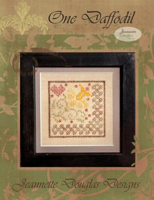 Jeannette Douglas Designs - One Daffodil - Cross Stitch Pattern-Jeannette Douglas Designs  One Daffodil Cross Stitch Pattern