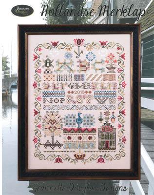 Jeannette Douglas Designs - Hollandse Merklap-Jeannette Douglas Designs, Hollandse Merklap, 2015 Nashville Release, Cross Stitch Pattern