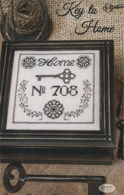 Jeannette Douglas Designs - Key to Home-Jeannette Douglas Designs, Key to Home, 2015 Nashville Release, Cross Stitch Pattern