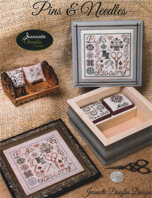 Jeannette Douglas Designs - Pins and Needles-Jeannette Douglas Designs, Pins and Needles, 2015 Nashville release, scissors, pins Cross Stitch Pattern