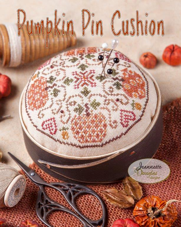 Jeannette Douglas Designs - Pumpkin Pin Cushion-Jeannette Douglas Designs - Pumpkin Pin Cushion, Harvest Market Hop,