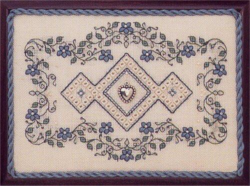 The Sweetheart Tree - Teenie Tweenie - M'Lady's Jewel Box - Cross Stitch Pattern-The Sweetheart Tree, Teenie Tweenie,  M'Lady's Jewel Box, with Charm, Cross Stitch Chart,
