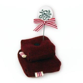 Just Another Button Company - Jolly Joy Jingle Pin Cushion Kit-Just Another Button Company - Jolly Joy Jingle Pin Cushion Kit, Christmas, pins, holiday, cross stitch