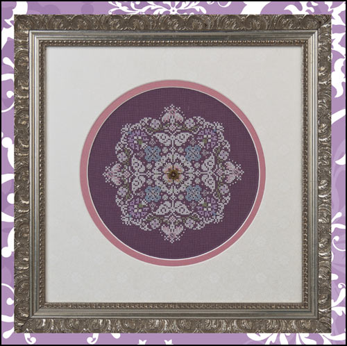 Just Nan - Snowflowers - Cross Stitch Pattern with Beads and Charm