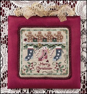 Just Nan - Lady Scarlet's Christmas-Just Nan - Lady Scarlets Christmas, ornament, stockings, chimney, Christmas, cross stitch