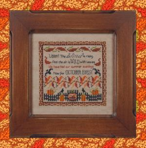 Just Nan - October Eves-Just Nan,  October Eves, fall, harvest, cooler weather, Halloween, fall leaves, Cross Stitch Pattern