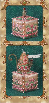 Just Nan - 2014 Ornament Shop - Gingerbread Garden Cube & Embellishments-Just Nan - Gingerbread Garden Cube  Embellishments , Christmas, ornaments, gingerbread house,