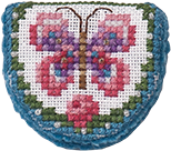 Just Nan - Needlebook - Pink Ladies Butterfly with Tin - Limited Edition-Just Nan - Needlebook - Pink Ladies Butterfly with Tin - Limited Edition, pin cushion, butterflies, cross stitch