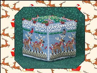 Just Nan - 8 Tiny Reindeer Cube & Embellishments-Just Nan - 8 Tiny Reindeer Cube  Embellishments, Christmas, ornament, gingerbread mouse, reindeer, Santa Claus, Christmas Eve, cross stitch