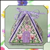 Just Nan - Spring Mouse in a House - Limited Edition-Just Nan - Spring Mouse in a House - Limited Edition, mouse house, flowers, cross stitch, mice, series,