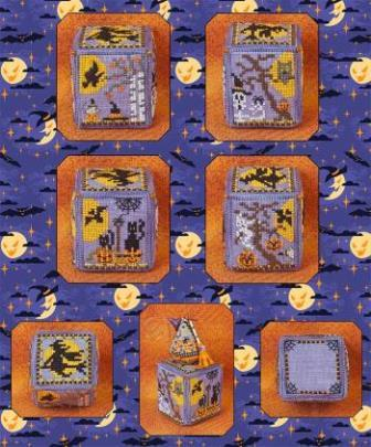 Just Nan - Witching Hour Cube-Just Nan - Witching Hour Cube, Halloween,  cube, cross stitch