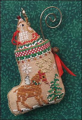 Just Nan - 2018 Ornament Shop - Gingerbread Mouse Reindeer Stocking-Just Nan - 2018 Ornament Shop - Gingerbread Mouse Reindeer Stocking, Christmas, decorating, ornament, cross stitch