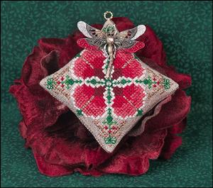 Just Nan - Christmas Dragon Ornament w/Painted Dragonfly Charm  LIMITED QUANTITIES-Just Nan - 2018 Christmas Dragon Ornament wPainted Dragonfly Pin or Charm, DECORATING, CROSS STITCH